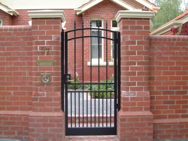 Wrought iron pedestrian gates gallery